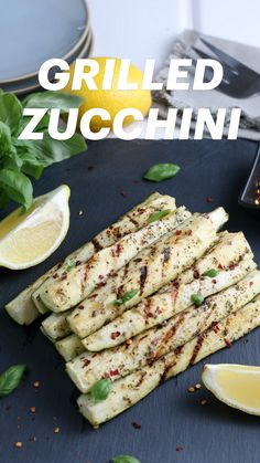 Grilled Zucchini Recipes, Grilled Vegetables, Vegetable Recipes, Whole Food Recipes, Diet Recipes, Vegetarian Recipes, Cooking Recipes, Healthy Recipes, Healthy Food Habits