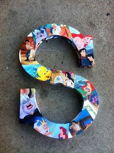 Disney Decorated Wooden Letters | 15 DIY Teen Girl Room Ideas