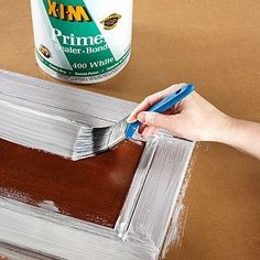 The go-to guide to get smooth coverage when painting wood cabinets or furniture./
