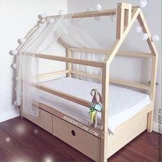 Buy or order Baby bed house Avyvind. Baby Bedroom, Baby Boy Rooms, Little Girl Rooms, Girls Bedroom, Childrens Beds, Kids Room Design, Baby Kind, Kid Beds, Kids Furniture