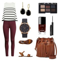 """""""Fashion"""" by kairah-prince on Polyvore featuring H&M, Cardigan, Steve Madden, FOSSIL, Marc by Marc Jacobs, Effy Jewelry, Chanel, NARS Cosmetics and MAC Cosmetics"""