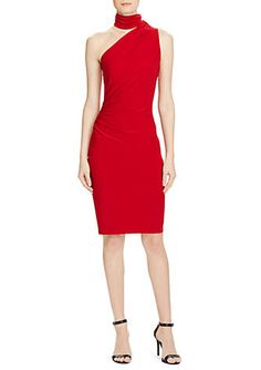 92dfa0a8faa Lauren Ralph Lauren One-Shoulder Jersey Dress
