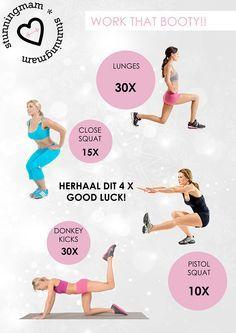 booty work-out billen trainen strakke billen oefeningen