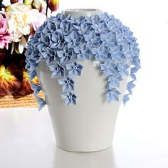 Hot Selling Home Decoration Handmade Ceramic Flower Vase Wedding Gift Porcelain . - Hot Selling Home Decoration Handmade Ceramic Flower Vase Wedding Gift Porcelain … – - Ceramic Flowers, Clay Flowers, Flower Vases, Decoration Photo, Decoration Ikea, Vase Crafts, Clay Crafts, Pottery Painting, Ceramic Painting