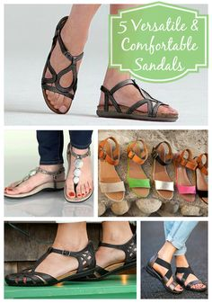 Five Versatile and Comfortable Sandals