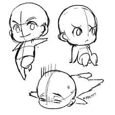 Znalezione obrazy dla zapytania how to draw chibi bodies Drawing Base, Manga Drawing, Drawing Sketches, Chibi Drawing, Drawing Tips, Drawing Techniques, Drawing Ideas, Chibi Sketch, Anime Sketch
