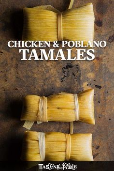 Tamales Learn how to make chicken-and-poblano tamales and please a crowd.Learn how to make chicken-and-poblano tamales and please a crowd. Pozole, Mexican Dishes, Mexican Food Recipes, Mexican Desserts, Dinner Recipes, Drink Recipes, Yummy Recipes, Dinner Ideas, Yummy Food