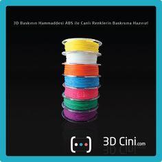 www.3dcini.com'da bulunan birbirinden farklı tasarım ürünler artık rengarenk... #3DPrinter #3DYazıcı #3dcini #3dprintingcolors