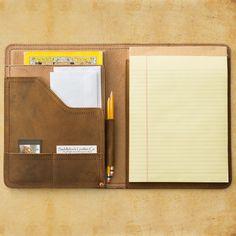 #2 Notepad Holder from Saddleback Leather Co. size: medium  color: tobacco www.saddleback.com $148