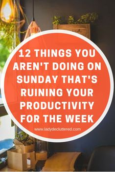 Don't let a lack of preparation lead you to a mid-week melt down. With a little time dedicated on your Sunday you can find that smooth week you have been looking for www.ladydecluttered.com #declutter#prepare#sunday