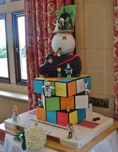 Best 80's Montage Wedding Cake EVER!!!!!!