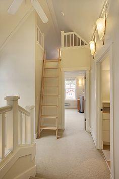 loft ladder home decor pinterest treppe dachboden. Black Bedroom Furniture Sets. Home Design Ideas
