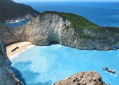 The Greek island of Zakynthos in the Ionian Sea.  Top five best Greek islands - TNT Magazine