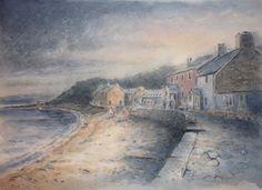 Ty Coch, Llyn Peninsula. Mixed media. Welsh, Nostalgia, Mixed Media, Paintings, Holidays, Landscape, History, Illustration, Artist