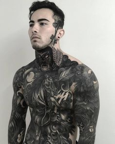 What's your favorite tattoo by 🇳🇿 New Zealand, Dunedin / - Submit your works:… Maori Tattoos, S Tattoo, Alien Tattoo, Full Body Tattoo, Tattoos Skull, Chest Tattoo, Forearm Tattoos, Body Tattoos, Black Tattoos
