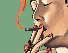 Fefa feeling high. Detalhe da pintura digital que fiz em homenagem a uma amiga querida