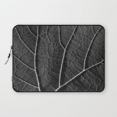 Leaf+in+black+and+white++Laptop+Sleeve+by+ARTbyJWP+-+$36.00