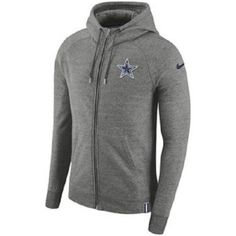 2bcec3c3a Nike Dallas Cowboys AW77 Full Zip Hoodie Mens L Grey 838321 091  Nike   DallasCowboys