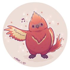 Fawkes the birb! 🔥Thanks for all your suggestions by the way I read them all even if I don't reply I really appreciate it Harry Potter Fan Art, Harry Potter Cartoon, Harry Potter Drawings, Harry Potter Characters, Harry Potter Memes, Chibi, Cute Animal Drawings Kawaii, Cute Drawings, Desenhos Harry Potter