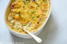 Loaded Cheesy Potato Casserole {And the Idaho Potato Commission Tour 2015}