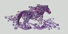horse (cheval) : quilling