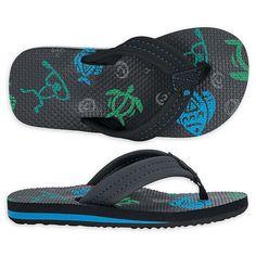 Art Shark Underwater Kids Slippers Hawaii EVA Sandals Shoes Shower Flip-flops Girl Boy