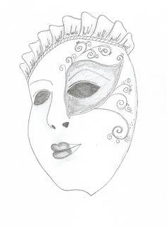 výzva den 19. - maska (benátská)