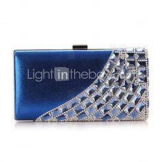 Polyster Wedding/Special Occation Clutches/Evening Handbags With Rivet And Rhinestones(More Colors) - EUR € 29.28