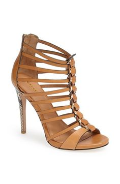 Coach Snakeskin Heels Gorgeous tan heel sandals with faux snakeskin. Never worn Coach Shoes Heels Hot Shoes, Crazy Shoes, Me Too Shoes, Shoes Heels, Pumps, Pretty Shoes, Beautiful Shoes, Beautiful Bags, Heeled Boots