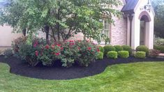 Full size of large side yard landscaping ideas backyard landscape design front designs handsome garden decorating . Landscaping Around House, Shade Landscaping, Front House Landscaping, Cheap Landscaping Ideas, Lawn And Landscape, House Landscape, Landscape Design, Front Yard Flowers, Front Yard Plants