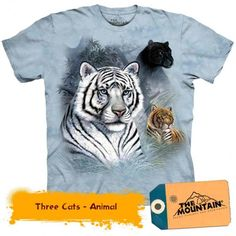 Tricouri The Mountain – Tricou Three Cats I Love Ugly, Three Cats, Tiger T Shirt, Tshirts Online, Female, Tank Tops, Mountain, Animals, Shopping