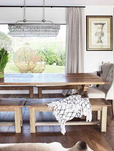 THE ELEGANT ENTREPRENEUR I MURIWAI - Lou Brown Elegant, Custom Wine Cellars, Rustic Dining Table, Furniture, Interior Design, Home Decor, Interior Design Brief, Reclaimed Oak, Dining Table