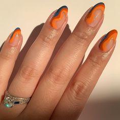 (paid link) acrylic full set #acrylicnails Almond Shape Nails, Almond Acrylic Nails, Best Acrylic Nails, Nail Design Stiletto, Nail Design Glitter, Gel Nails, Nail Polish, Acylic Nails, Funky Nails