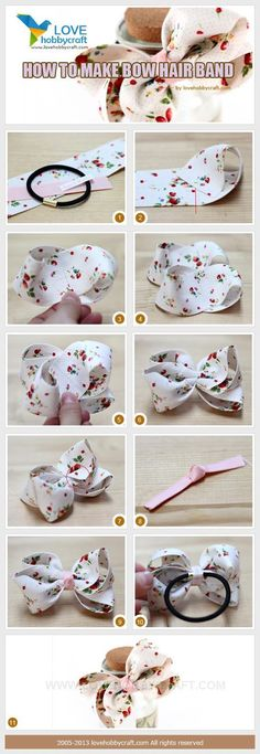 Diy Baby Headbands Ribbon Hair Bow Tutorial 16 Ideas For 2019 Diy Ribbon, Ribbon Hair, Ribbon Crafts, Ribbon Bows, Ribbons, Ribbon Flower, Making Hair Bows, Diy Hair Bows, Hair Bows For Girls