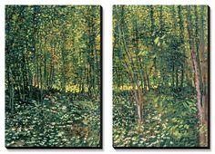 Woods and Undergrowth, c.1887 Canvas Art Set