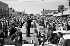 John Kennedy's 1960 presidential campaign. Paul Schutzer—Time & Life Pictures/Getty Images