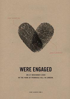 DIY Wedding Ideas: Thumb Print Save-The-Dates