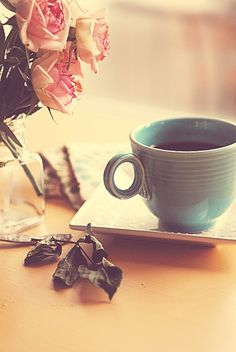 Lovely tea scene. Chocolate + tea = the best. World's best chocolate tea.
