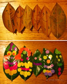 Leaf people - a simple, fun craft perfect for little kids to make lovely leaf families.