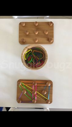 Knobs and chopping board- great fine motor skills idea