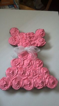 One Of The Two Baby Shower Cupcake Cakes I Made For My Daughteru0027s Shower.
