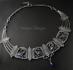 The Crown Fine/sterling silver and kyanite earrings by vanini