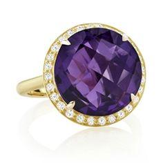 Reis-Nichols Jewelers : Carelle Amethyst & Diamond Ring