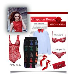 """Maison Close - Chaperon Rouge"" by blueberrylexie ❤ liked on Polyvore featuring Marni, Stella Jean, Maison Close, Gucci, Aquazzura, lingerie and maisonclose"