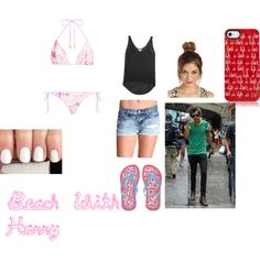 """Beach With Harry"" by gigi-loves1d on Polyvore"