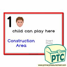 How Many Children... Construction Area Signs - Primary Treasure Chest Teaching Activities, Teaching Art, Teaching Ideas, Eyfs Classroom, Classroom Rules, St Georges Day, Ourselves Topic, Construction Area, A4 Poster