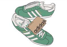 Illustrator Peter O\u0027Toole reimagines adidas Originals shoes popular in the  terraces for \u0027Club