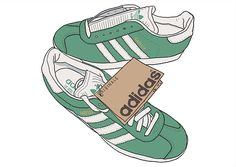 Illustrator Peter O'Toole reimagines adidas Originals shoes popular in the terraces for 'Club & Country', a special football issue of Proper magazine.