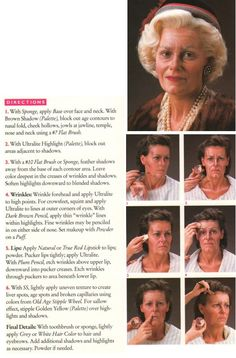 How to do old lady make-up (Ben Nye)