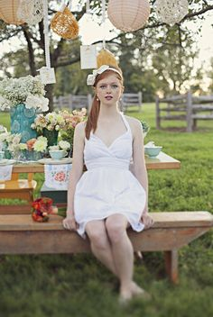 55cddc3fd3b Inspiration shoot by Brooke Courtney from  Style Me Pretty Redhead Bride